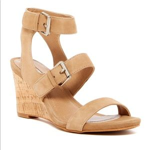 Tahari Leather Wedge Sandal